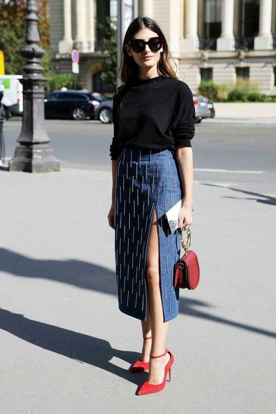Джинсові юбки