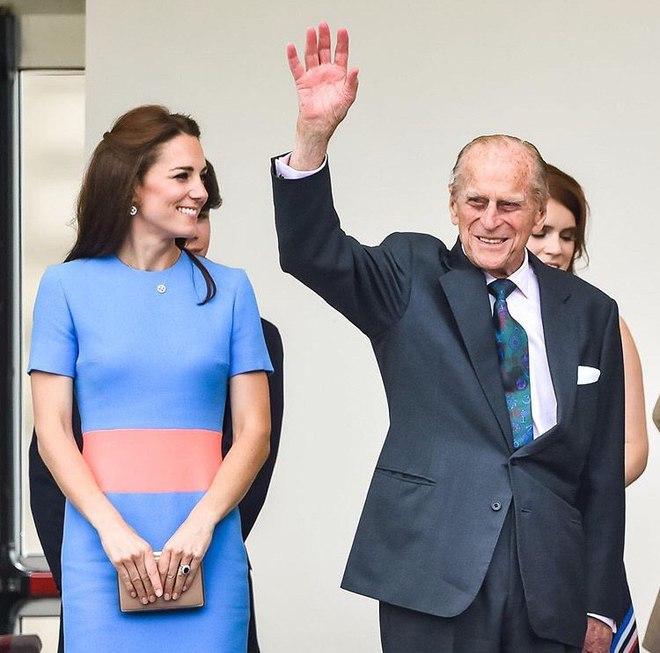 Кейт Миддлтон и принц Филипп