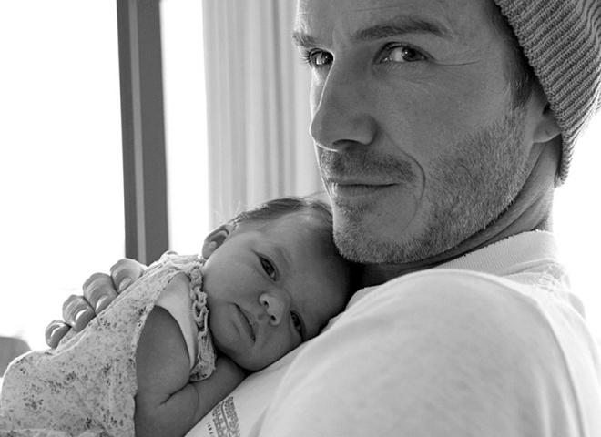Бекхэм со своей дочкой