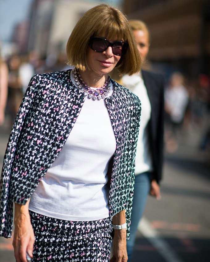 Анна Винтур на Неделе моды