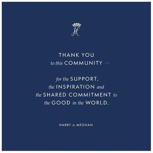 Прощальний пост в Instagram Меган Маркл і принца Гаррі