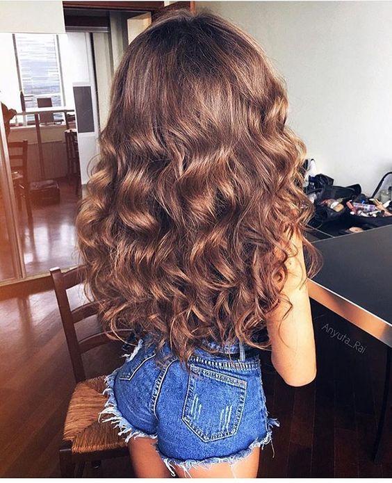 Кудрявые волосы без плойки