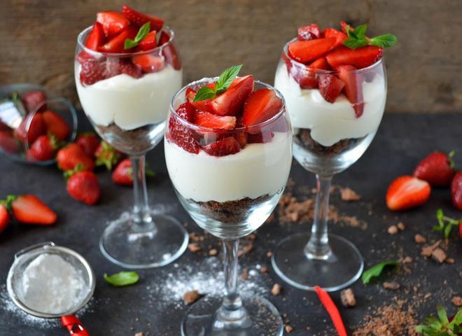 десерты в фужерах рецепты с фото