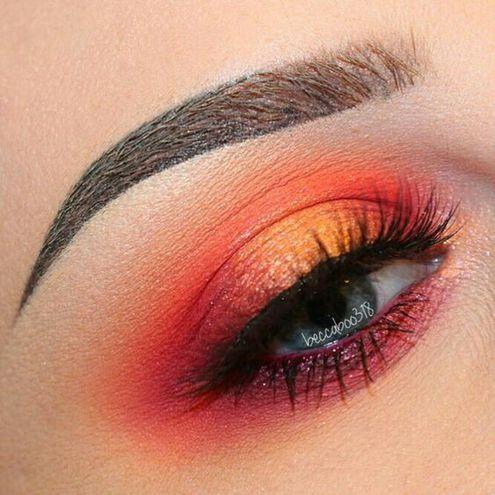 Солнечный макияж глаз
