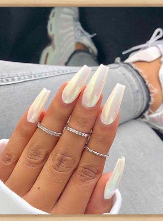 Маникюр на длинные ногти