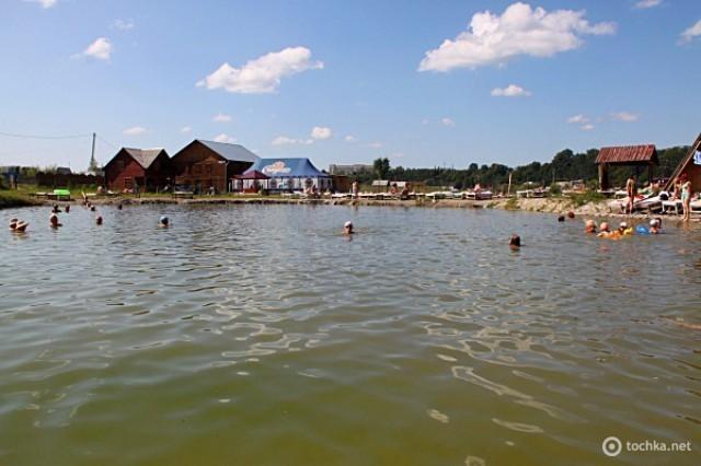 Соленое озеро в Солотвино