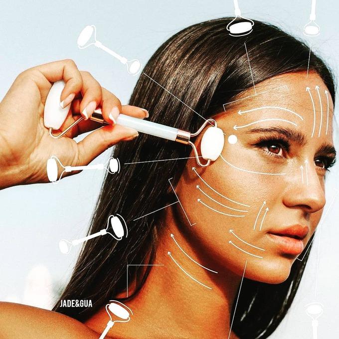 Нефритовий масажер для обличчя
