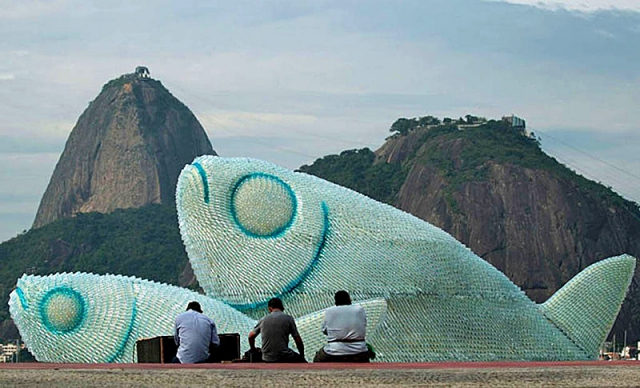 Скульптуры рыб: мега-рыба из Бразилии