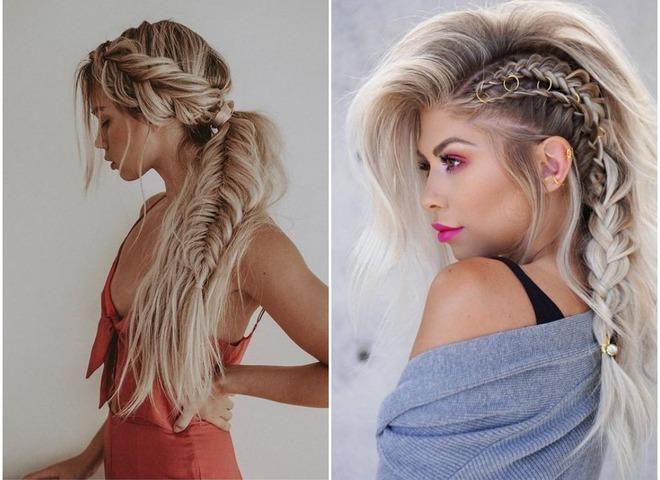 Модні зачіски з косами