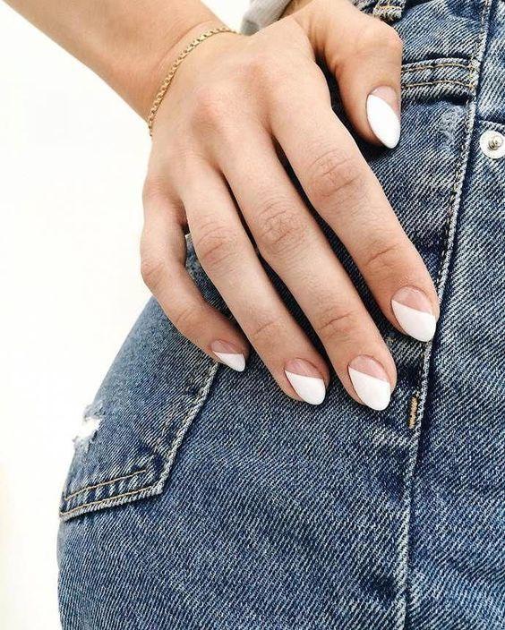 Белый маникюр на лето 2020: идеи для разной формы ногтей