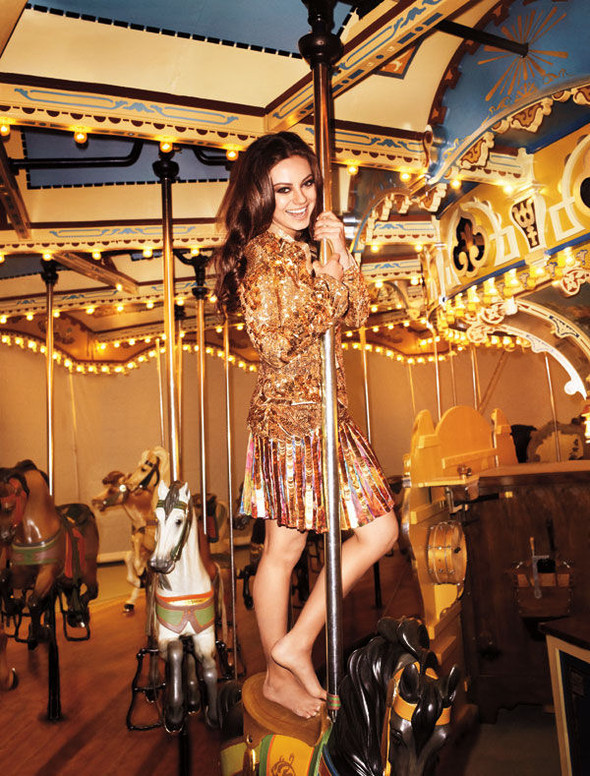 Мила Кунис для Harper's Bazaar
