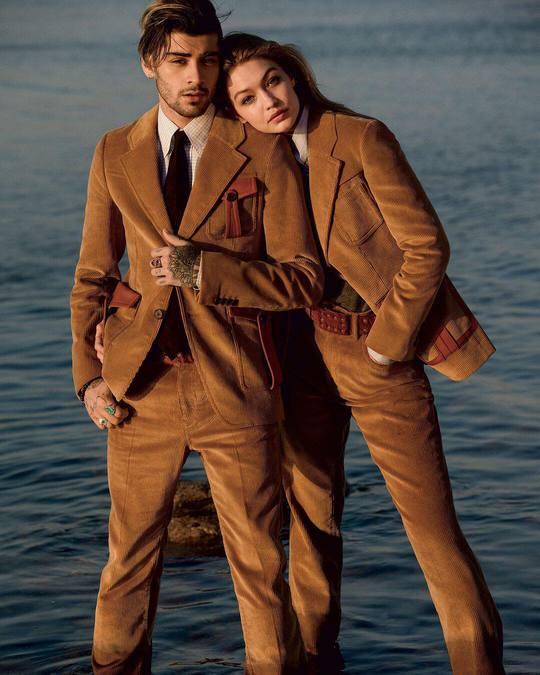 Джиджи Хадид снялась с бойфрендом в стильной фотосессии для известного глянца
