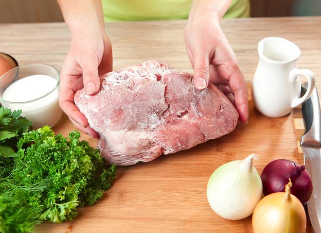 Як розморозити м'ясо