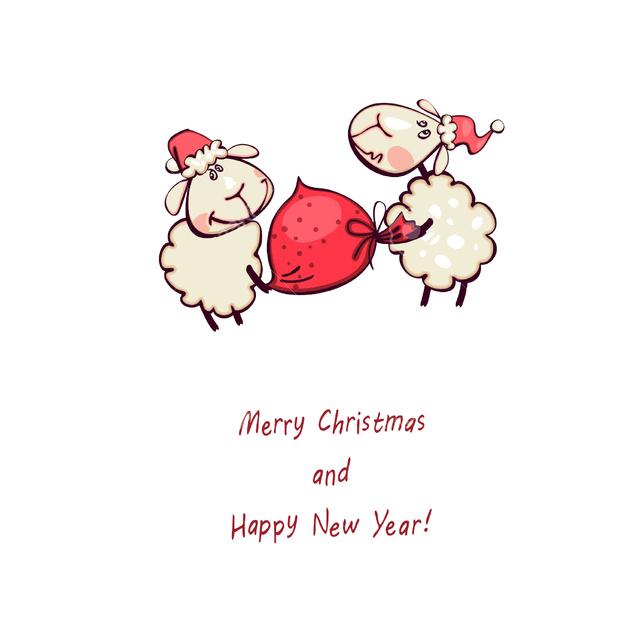 Счастливого Рождества и года овцы 2015