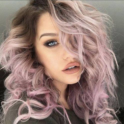 Отросшие корни волос
