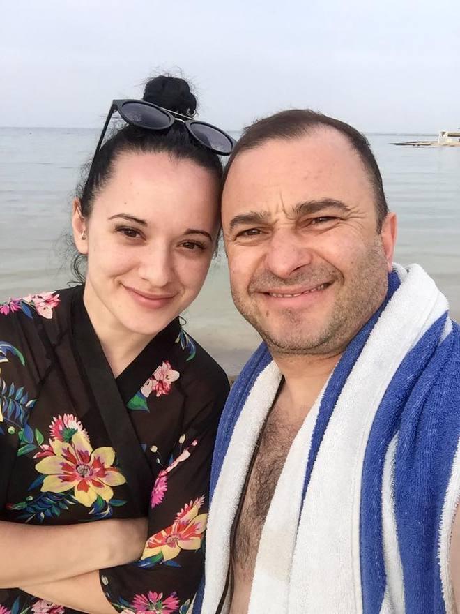 Виктор Павлик с дочерью Кристиной