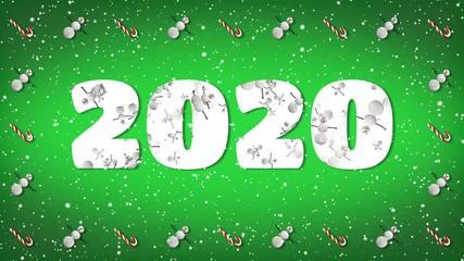 Яркая открытка на Новый год 2020