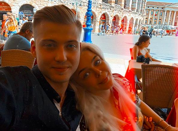 Алина Гросу и её муж Александр