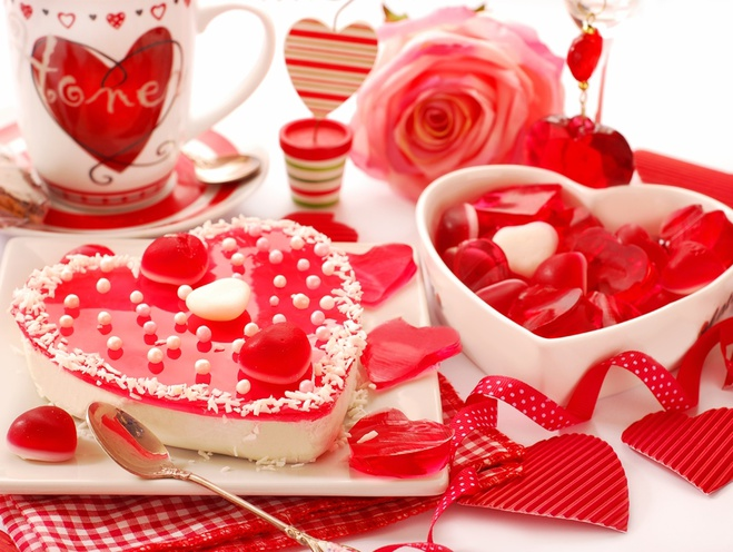 стол на День святого Валентина