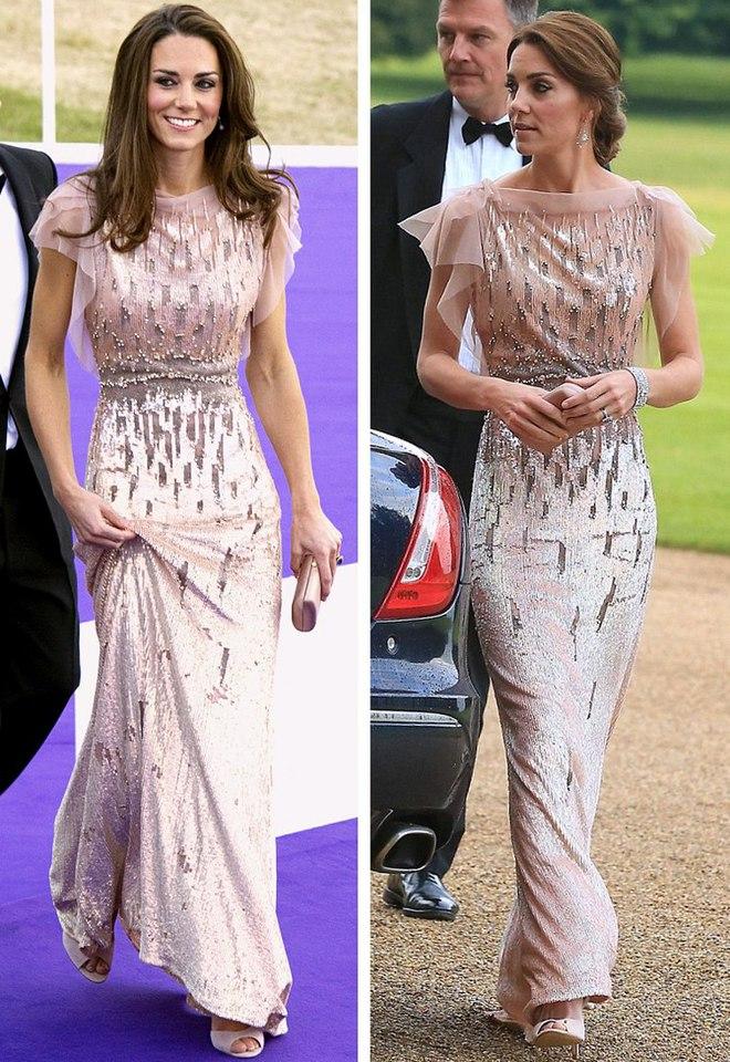 Кейт Міддлтон в одному і тому ж платті, 2011 і 2016