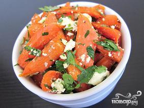 Салат с моркови