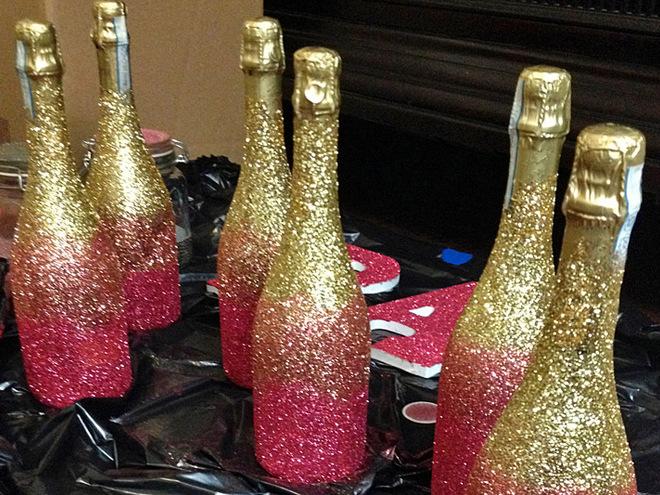 Бутылка шампанского на новый год картинки