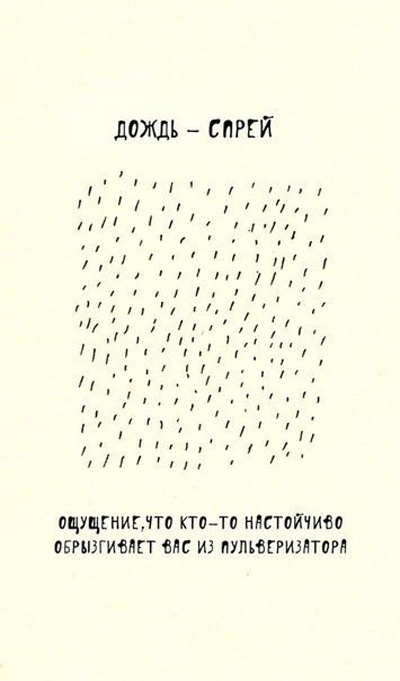 Разновидности дождя в Санкт-Петербурге