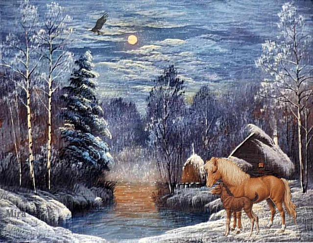 Зимние картинки с Лошадьми