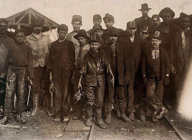 Дети-шахтеры в Алабаме, США. Конец XIX века