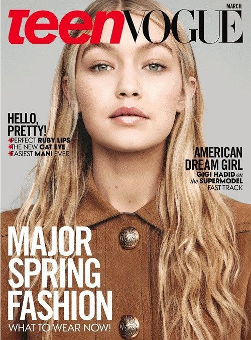 Джиджи Хадид для Teen Vogue US (март, 2015)