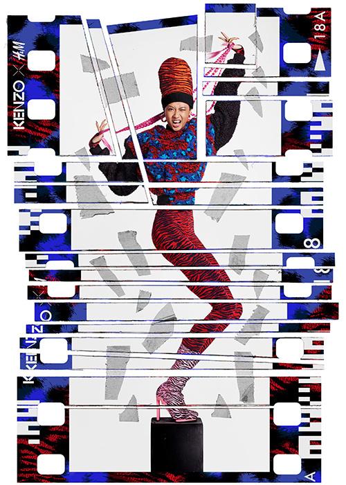 Опубліковані лукбук і реклама Kenzo x H&M