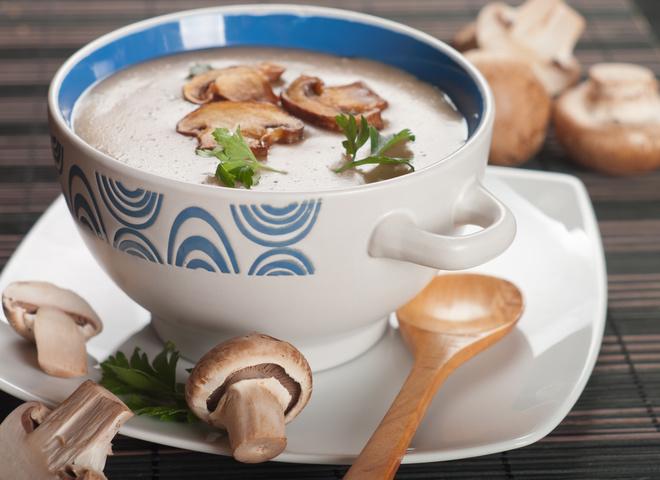 Грибной суп пюре из шампиньонов с сыром рецепт