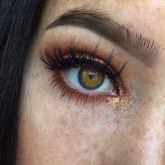 Глиттер на глазах