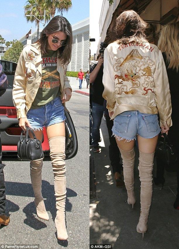 З чим носити джинсові шорти: стильні луки Кендалл Дженнер (фото)
