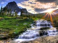 Водопад и солнце