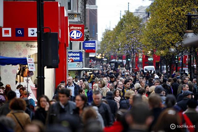 5 місць, де туристу краще не бувати в понеділок: Оксфорд стріт, Лондон, Великобританія