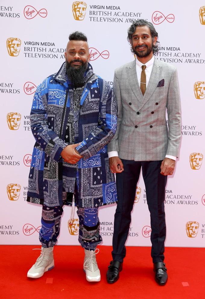 Гуз Хан і Арслан Ашраф Моган на BAFTA TV Awards 2021