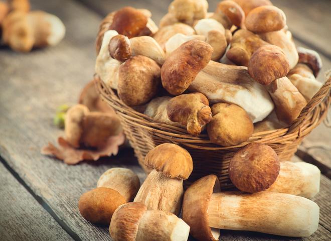 як заморозити білі гриби