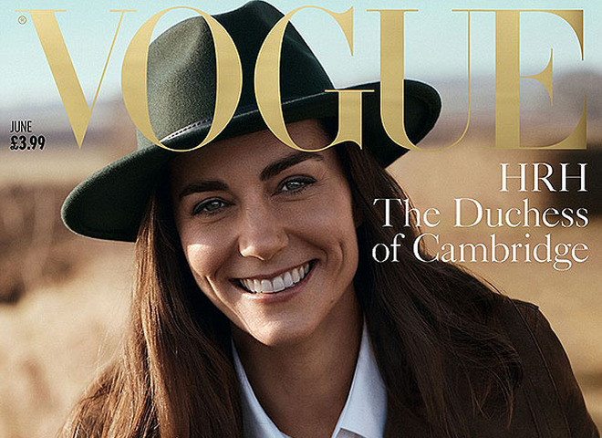 Кейт Миддлтон впервые появилась на обложке британского Vogue