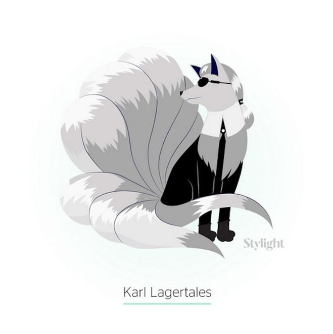 Карл Лагерфельд в образі покемона