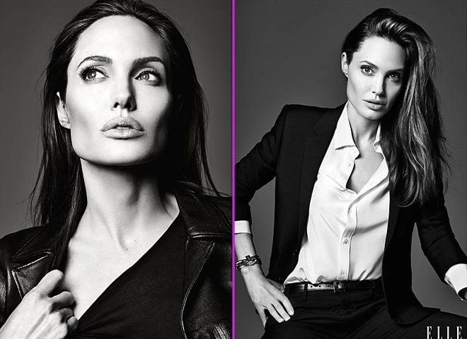 Анджелина Джоли в ELLE US