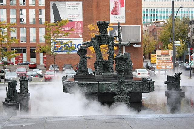 Самые необычне фонтаны: Фонтан Борьбы, Монреаль