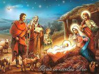 Обалденная открытка на Рождество Христово 2015
