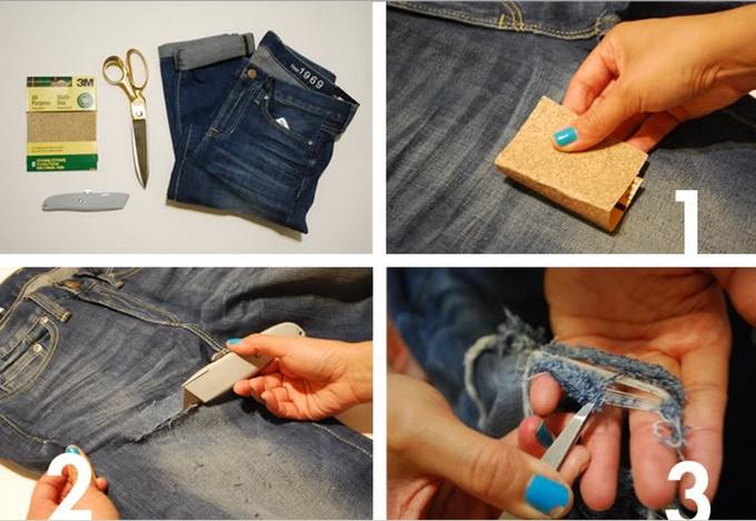 Рваные джинсы инструкция