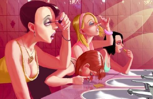Так вот что происходит в женском туалете в ночных клубах