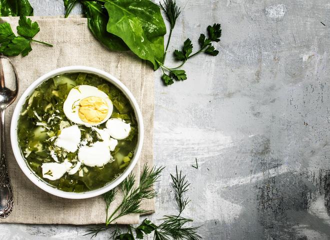 Рецепт супа с щавелем с фото