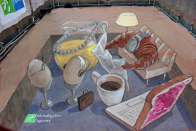3d малюнки на асфальті: Едуардо Ролер