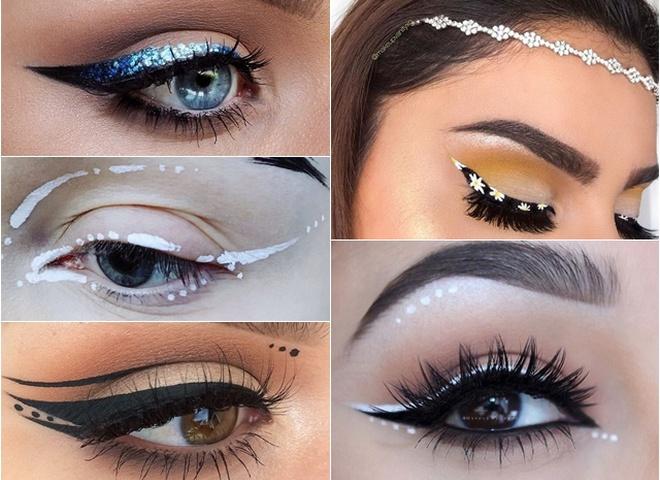 Необычные стрелки в макияже глаз