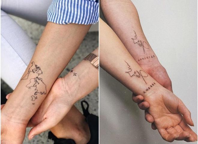 Парные татуировки: ТОП-15 идей