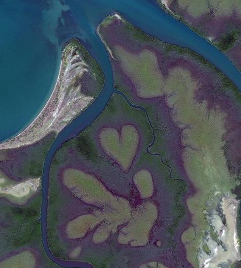 Романтические места в виде сердца